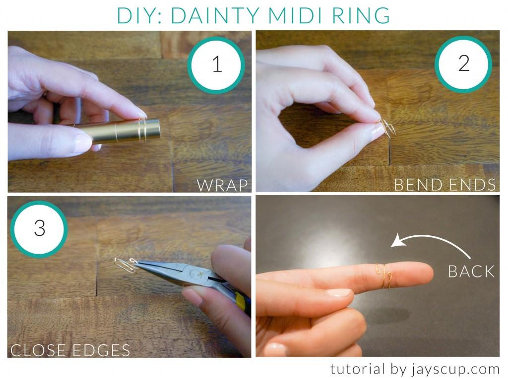 DIY Dainty Midi Ring
