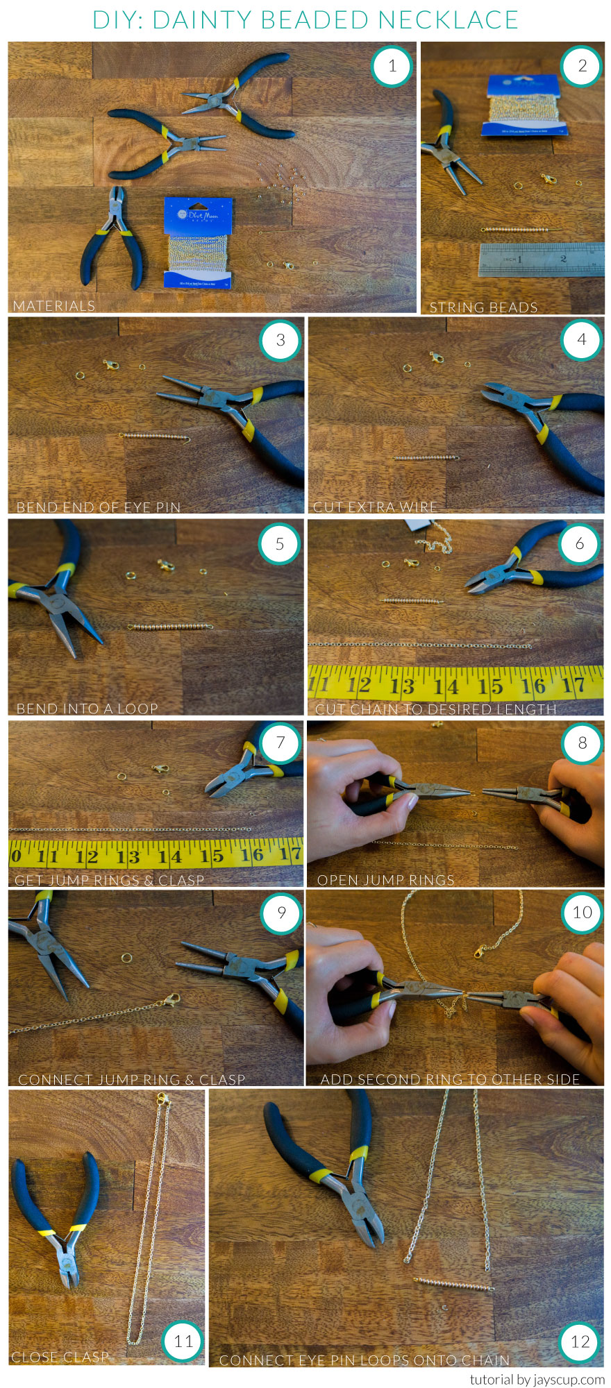 DIY Dainty Beaded Necklace