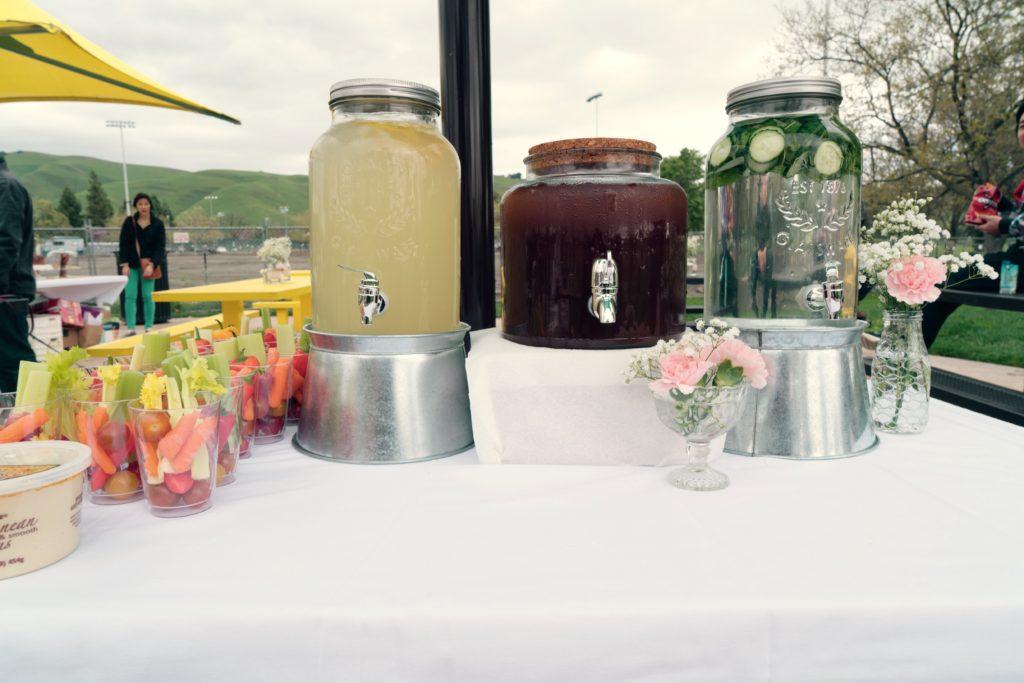 Lemonade, Tea, & Cucumber Water